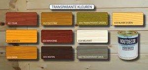 Transparante houtafwerking