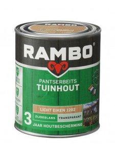 Rambo Pantserbeits  zijdeglans  Transparant Lichteiken 1202 2,5 LTR