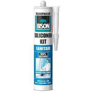 Bison Sil.Kit Sanitair Transparant -300ml/Koker