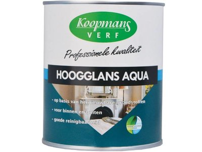 Koopmans Hoogglans Aqua Kleur Uit Wit/P