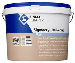 Sigmacryl Universal Matt 10L Lichte Kleur