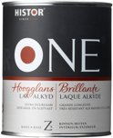 Histor One Lak Hoogglans  Alkyd  Wit/Lichte Kluer 2,5LTR