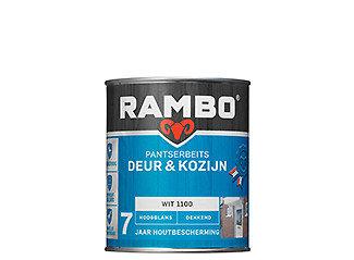 Rambo Pantserbeits Deur&Kozijn hoogglans Dekkend Wit 1100 0,75Ltr